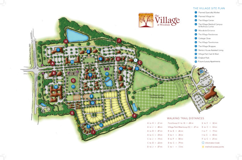 The Village at Woodside Map